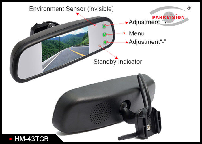 High Brightness Mirror Mounted Reversing Camera With Changeable Bracket