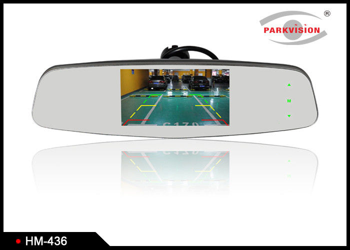 Car Reversing Mirror Monitor with High Reflectivity Mirror glass 4.3 Inch Screen
